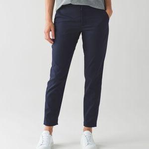 Rare Size 4 Lululemon City Trek Trouser Pants Navy